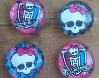 Monster High Magnets - Kids Magnets - Kids Room Decor - Birthday Gift