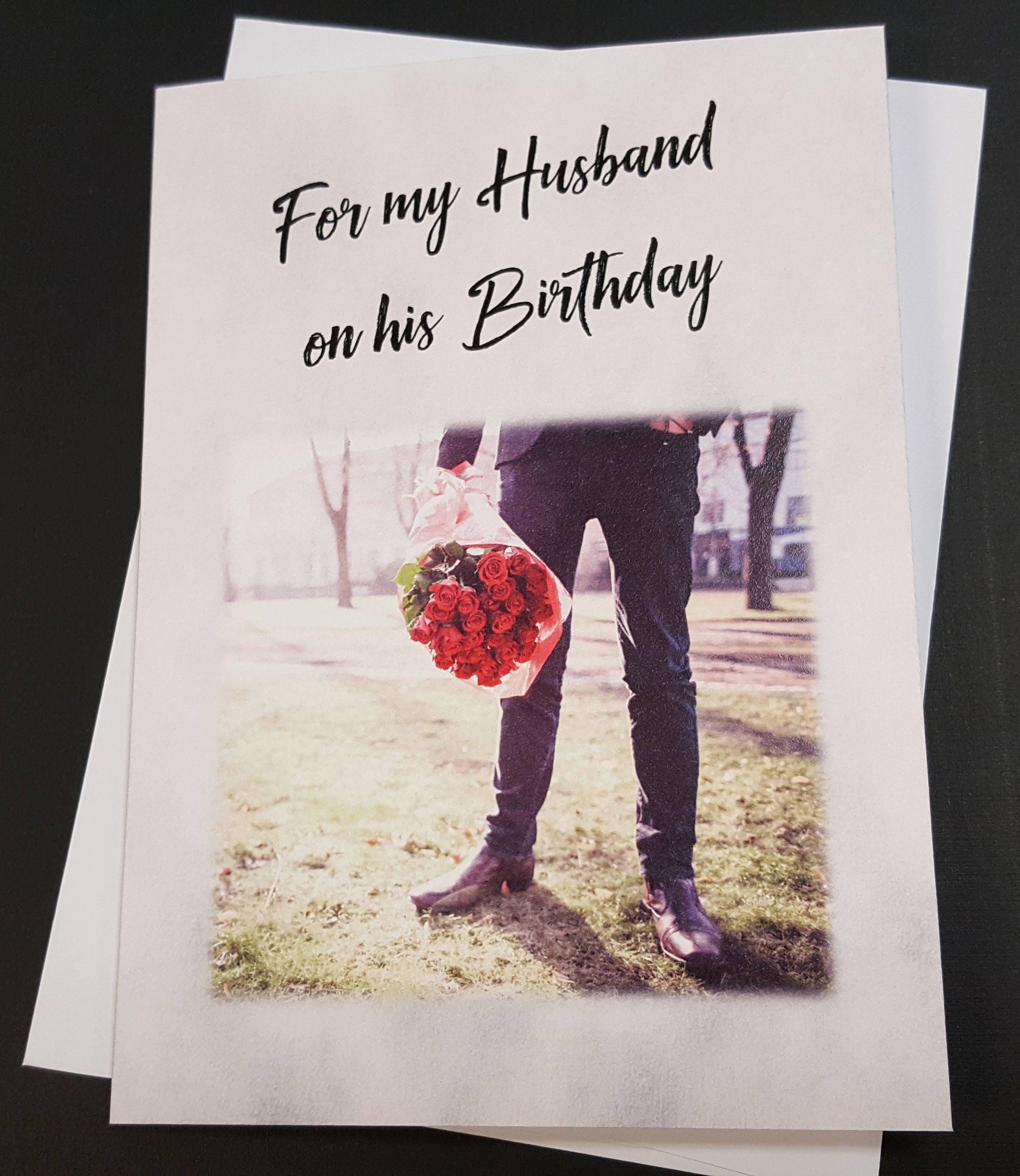 Gay husband birthday card greeting card Couple LGBT