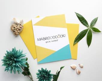 Mabrook Wedding Card, Islamic wedding, wedding card, Islamic greeting card, Nikah, Nikkah card