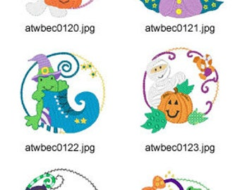 Halloween-Circles ( 10 Machine Embroidery Designs from ATW ) XYZ17H
