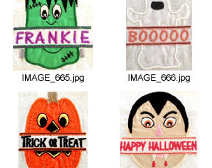 Halloween-Split-Applique ( 8 Machine Embroidery Designs from ATW ) XYZ17H