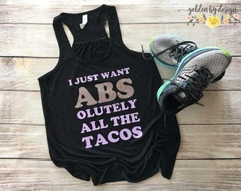 I Just Want Abs Tank Top