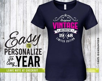 70th birthday, 70th birthday gifts for men, 70th birthday gift, 70th birthday tshirt, 1948, 70th birthday gift for women, vintage 1948, gift