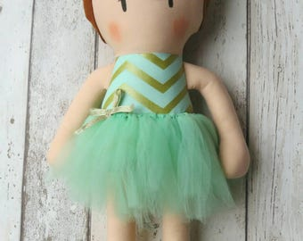 Big Sister Ballerina Cloth Doll Handcrafted - Ce Marked