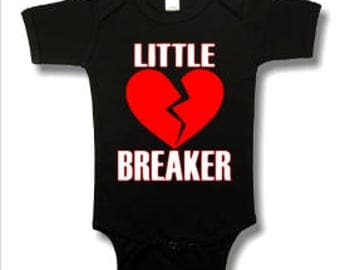 little heart breaker - heart breaker - boys valentine shirt - valentine for him - valentines day gift - funny boys shirt - vday shirt - boys