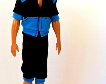 Ken doll clothes - Ken sportswear, Ken pants, Ken top, Barbie clothes, Ken doll sport suit
