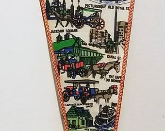 New Orleans, Louisiana - Vintage Felt Pennant