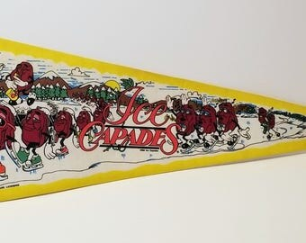 Ice Capades - Vintage Pennant