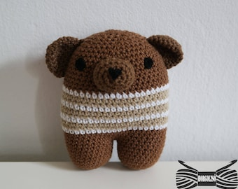 Crochet Cuddle Brown bear Amigurumi