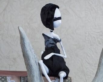 OOAK Art Doll, Noir lady