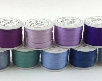 Only 6 left: ThreadArt 2mm & 4mm Silk Ribbon (10 meters) Sold by Individual Spools