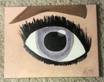 Eye Painting 14x11 Acrylic Painting
