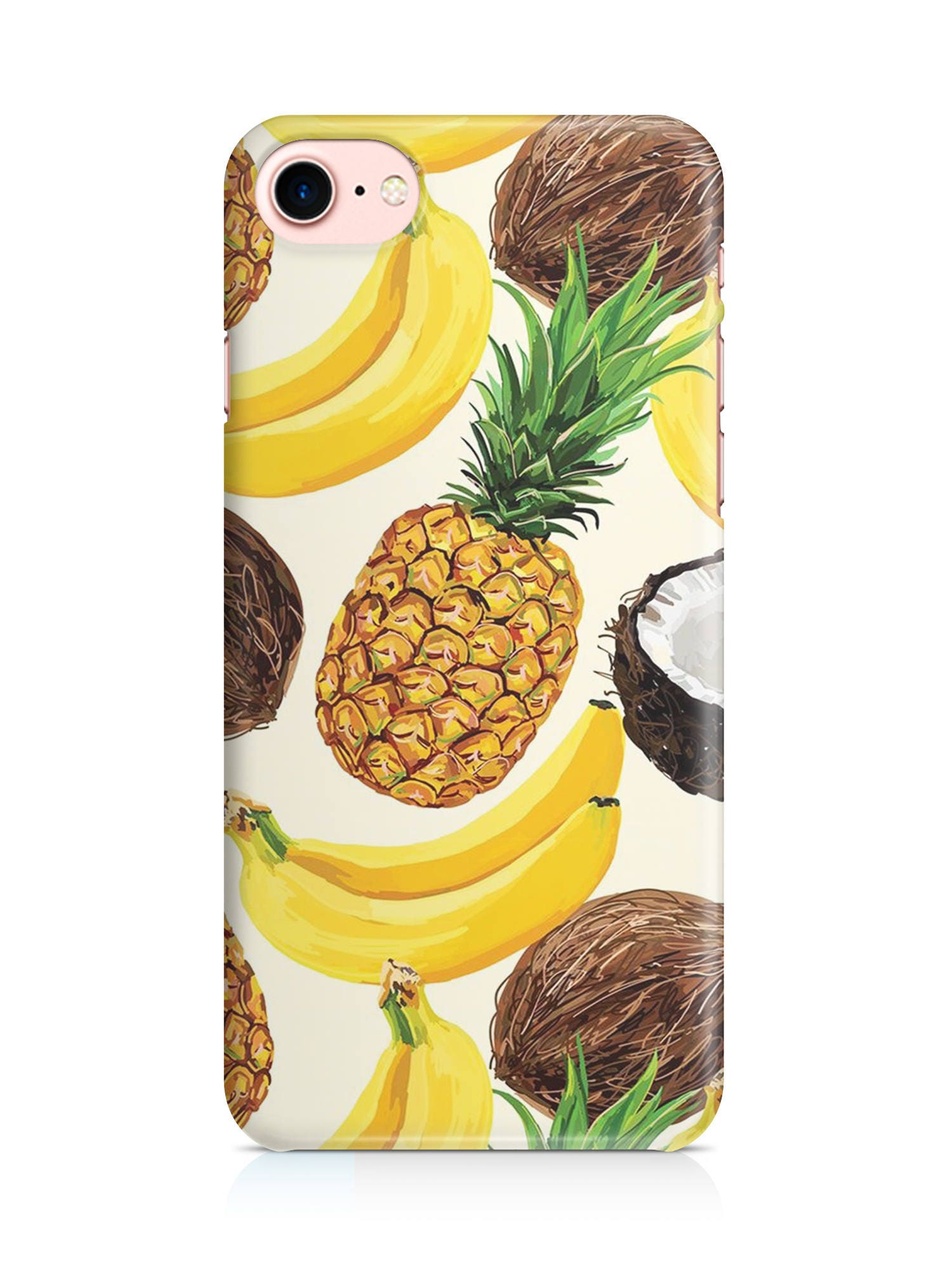 Caseplus Cover Custodia Ananas Banana Cocco Frutta Fruit Exotic Tumblr Tee Luxury Gold Case