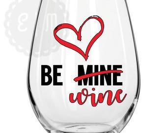Be Wine 21 oz. stemless wine glass