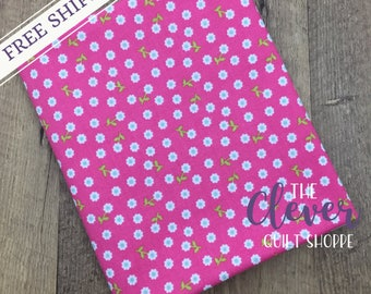 Petal Pink of Summer Song 2 by Zoe Pearn for Riley Blake Designs (Yardage, 100% Cotton Quilting Fabric Yardage)
