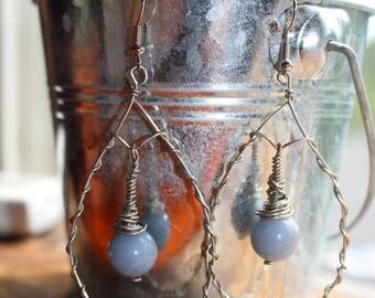 Angelite Drop Earrings