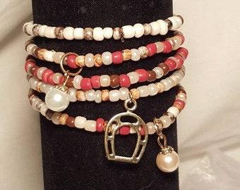 Lucky Horse Shoe Bracelet Set