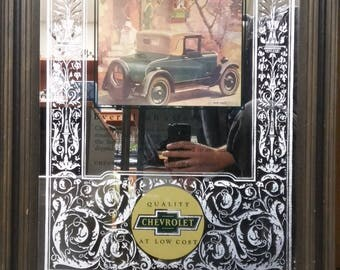 George Nathan's recreation of Fred Mizen's 1927 Chevrolet ad, made in 1978