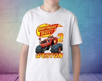 Blaze and the Monster Machines birthday shirt,  blaze and the monster machines shirt, birthday boy shirt, blaze birthday shirt