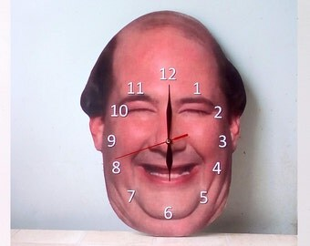 kevin malone Wall Clock, wall clock, The Office clock, Unique wall clock, the office tv show, Home and Living