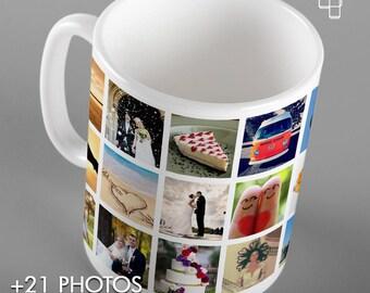 21 PHOTO MUG Instagram Personalised Mug, Cherised Moments, Photography, Sentimental Memories, Personal Message, Holiday Snaps, Birthday Gift