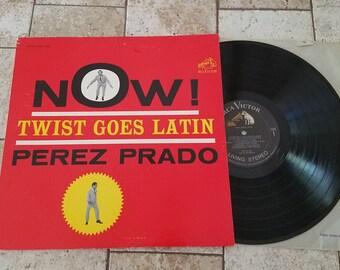 """Perez Prado """"Now! Twist Goes Latin"""" LP 1962 RCA Records"""