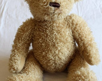 Plush Mohair Bear - Cute Fluffy and Cuddly - Vintage Collectors