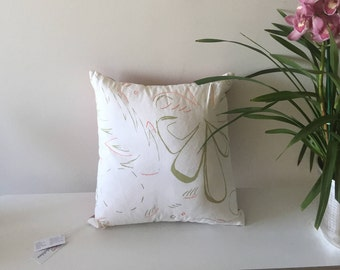 Minimalist Tropical Pillow Case,flower decorative pillow, embroidery pillow, ethical interior design, minimalist pillow case, xmas gift mom