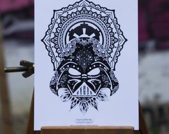 Postcard - Star Wars - Darth Vader Mandala
