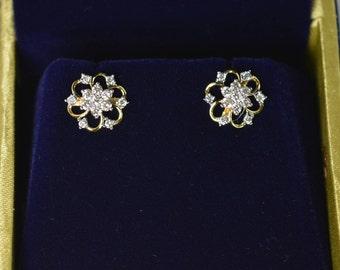Diamond Gold Earrings; 0.60 ct; IJ-VS; 3 gms
