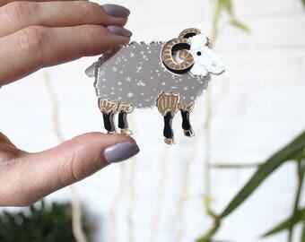 Lamb Brooch - Laser Cut Lamb - Acrylic Brooch Lamb - Lamb Pin - Lamb animal - Plexiglas - Handmade - Barnaul