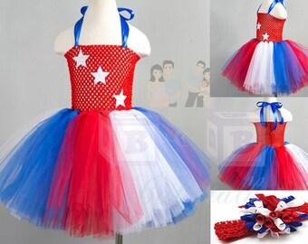 4th of July Tutu Dress, Fourth of July Tutu Dress, 4th of July Tutu, Red White Blue Tutu, Girls 4th of July, 4th of July Outfit, USA