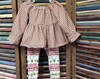 Little girls outfit, Top and leggings outfit, Dress top and leggings, Baby Girls 2 piece set, Girls fall outfit, Toddler outfit, Toddler set