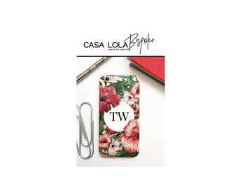 Personalised Phone Case Tropical Flowers, Personalized Phone Case