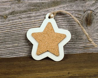 Rustic Ornaments, Christmas Bauble, Christmas Decorations, Christmas Tree Ornaments, Girlanda, Wood & Cork Christmas Decoration, Handmade