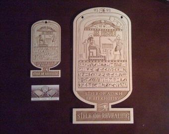 Stele of Revealing / Stele of Ankh-ef-en-Khonsu Cartouche Plaque Large 15 x 7.75 x.25