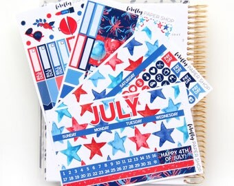 July Monthly Kit - (stickers for Erin Condren Life Planner)