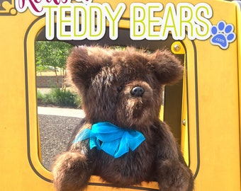Beaver Dark-Brown Teddy Bear by RealFurTeddyBears - FREE SHIPPING