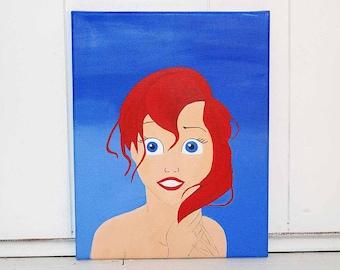 Little Mermaid Acrylic Canvas Painting