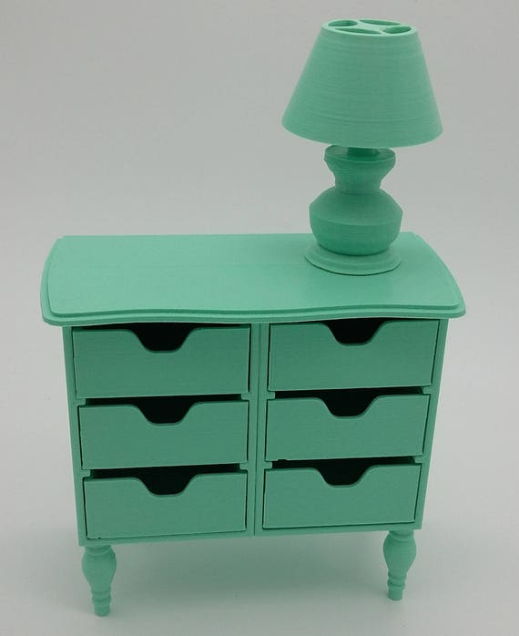 Chest of drawers with lamp for Ball jointed Zisa Doll