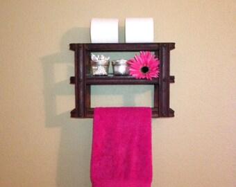 Antique sewing machine drawer frame; bathroom shelf, bathroom organization, bathroom wall decor, shabby chic decor, sewing machine drawers