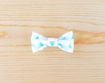 Blue Watercolor Triangle Bow, Blue Baby Bow