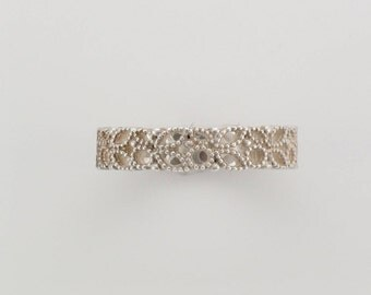 Silver Leaf Cut-out Ring