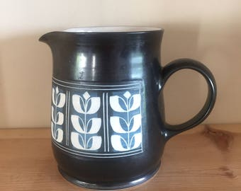 Vintage Retro Ambleside Small Jug Pitcher Creamer with Sgraffito Design