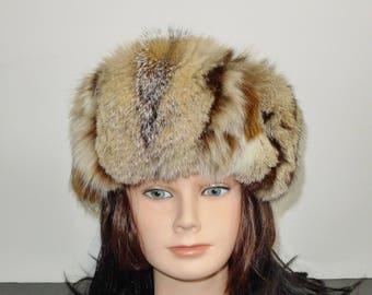 Beautiful lynx fur headband -  Sz M/L - Ravissant bandeau de lynx -  M/G