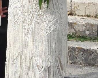 retro bridal dress charleston size L