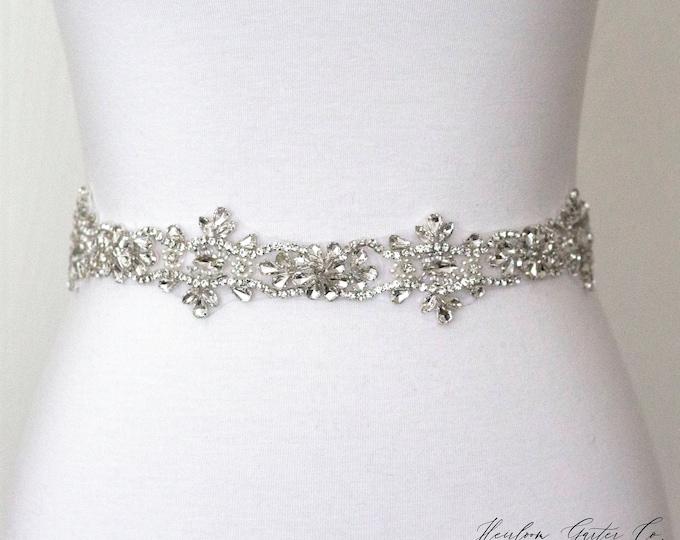 Wedding Dress Belt, Bridal Sash, Wedding Belt, Wedding Sash Rhinestone and Pearl Sash