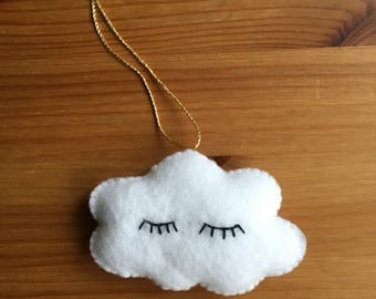 Cloud Felt Nursery Decoration