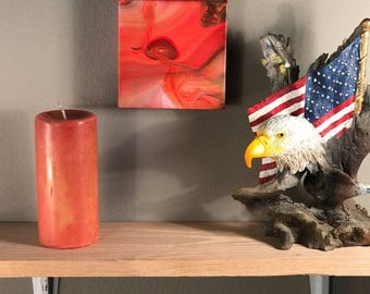 5x5 painting - acrylic art - abstract art - wall art - original art - acrylic painting - home decor - canvas art - mini painting