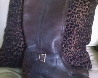 Tall leather Frye riding boots